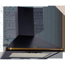 Кухонная вытяжка Elikor Вента 60П-430-П3Л антрацит/рейлинг золото