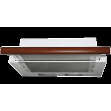Кухонная вытяжка Elikor Интегра 60П-400-В2Л белый/бук вишня