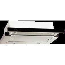Кухонная вытяжка Elikor Интегра GLASS 50Н-400-В2Г нерж. сталь/черное стекло