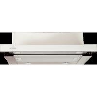 Elikor Интегра Glass 45Н-400-В2Г нерж. сталь/белое стекло