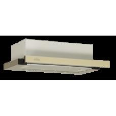 Кухонная вытяжка Elikor Интегра Glass 45Н-400-В2Г нерж. сталь/бежевое стекло