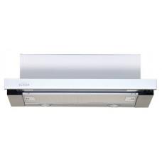 Кухонная вытяжка Elikor Интегра Glass 50Н-400-В2Д нерж. сталь/белое стекло