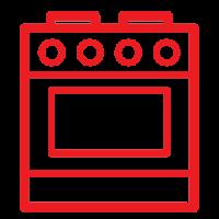 Кухонная электрическая и газовая плита